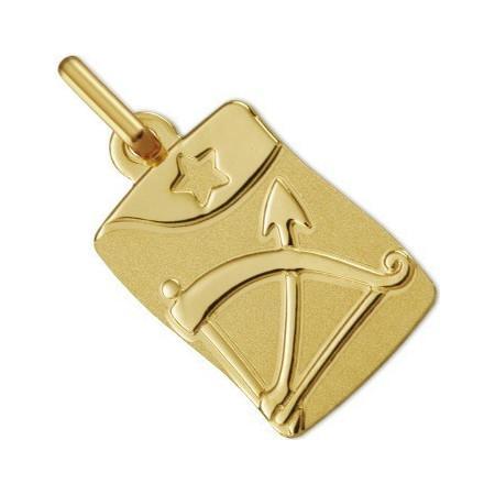Médaille zodiaque Sagittaire en or