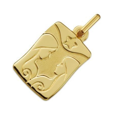 Médaille zodiaque Gémeaux en or