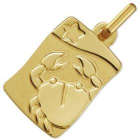 Médaille zodiaque Cancer en or