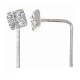 Piercing denezor blanc et pavage de diamants