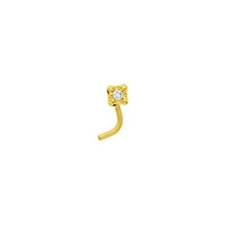 Piercing denezor jaune et diamant