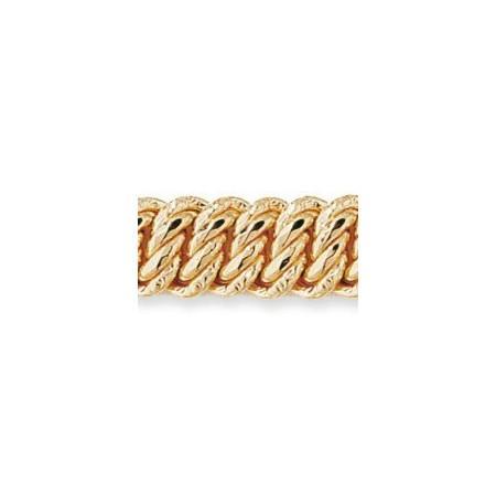Bracelet mailles américaine en or