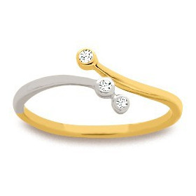 Bague en or avec 3 diamants