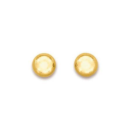 Clous d'oreilles boules en or jaune 8 mm