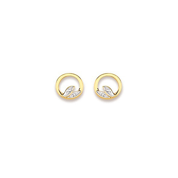 Clous d'oreilles en or avec diamants
