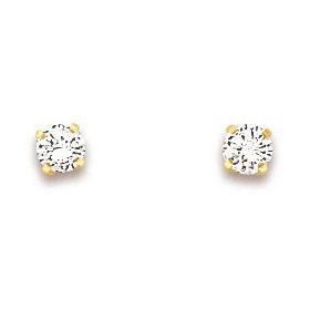 Clous d'oreilles en or et oxydes de zirconium