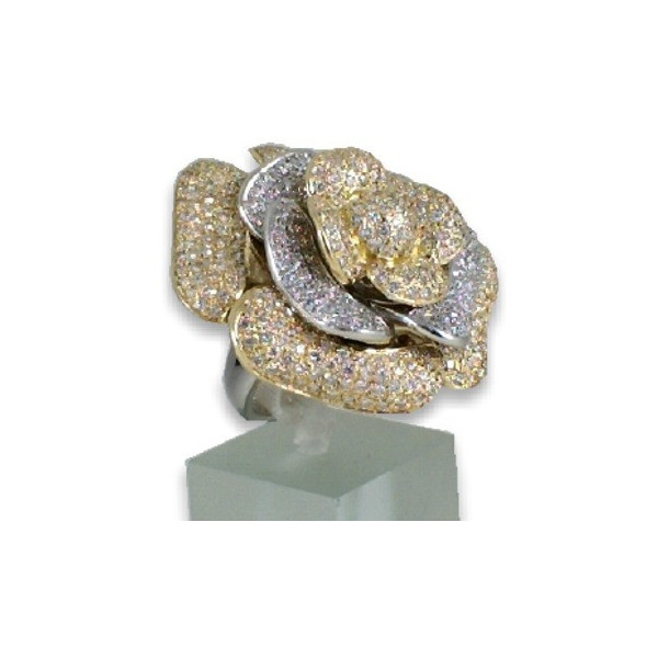Bague rose en or et diamants 4,45 carats
