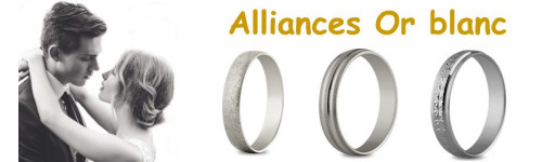Alliances en or blanc