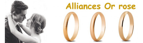Alliances en or rose