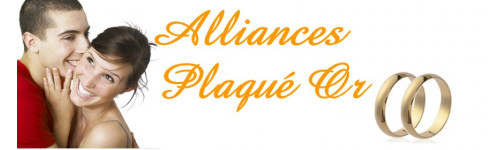 Alliances plaqué or