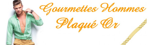 Gourmettes adulte plaqué or