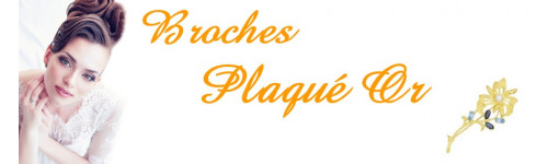 Broches plaqué or