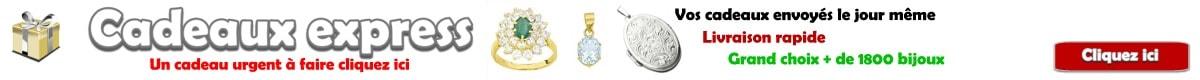 cadeaux express bijoux or, argent et plaqué or